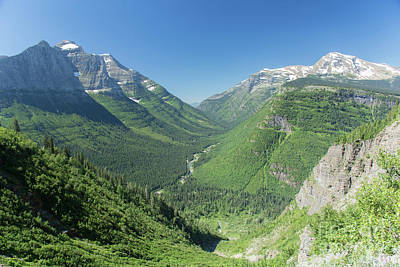 Photograph - Going-to-the-sun Road Mountain Valley by Jason Kolenda