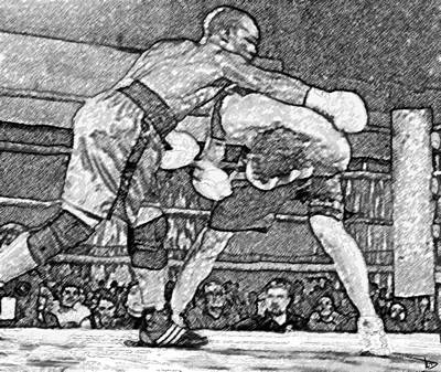 Prize Fighting Painting - Going Toe To Toe by David Lee Thompson