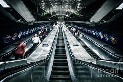 London Tube Photograph - Going Underground by Evelina Kremsdorf