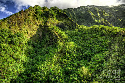 Photograph - Stairway To Heaven Hawaiian Landscape Hiking Trail Art by Reid Callaway