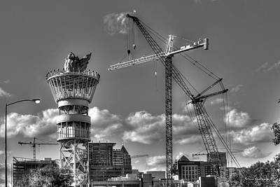 Tower Crane Photograph - Going Up Midtown Atlanta Construction Art by Reid Callaway