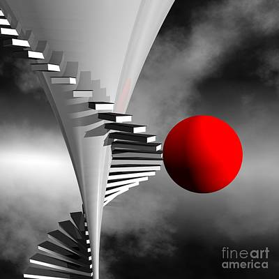 Colorkey Digital Art - Going Upstairs by Issabild -