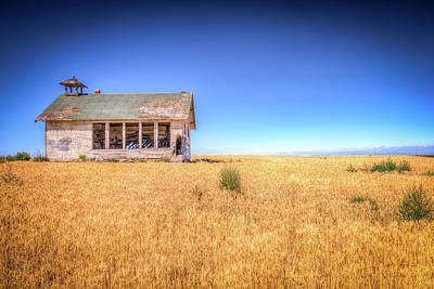 Abandoned School House Photograph - Going West by Spencer McDonald