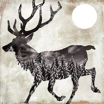 Going Wild Deer Art Print by Mindy Sommers