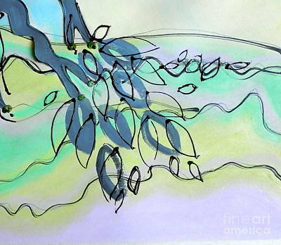 Mixed Media - Going With The Flow by L Cecka