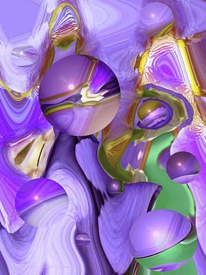 Gold Fill Photograph - Orbs Of Light - Abstract Iris Marbles by Brooks Garten Hauschild