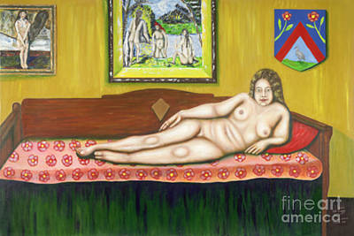 Gok With Munch And Cezanne Original by Neil Trapp
