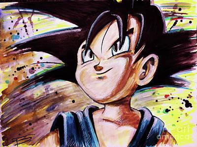 The Universe Painting - Goku by Tal Dvir