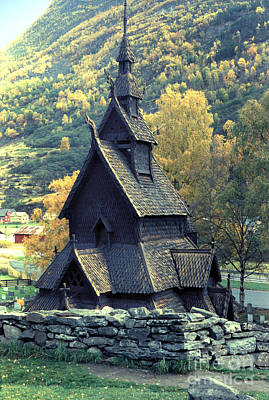 Photograph - Gol Stave Church In Norway by Wernher Krutein