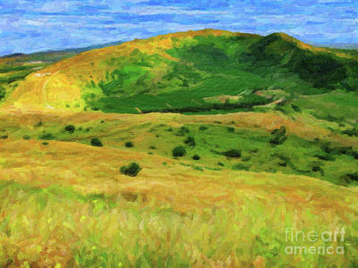 Digital Art - Golan Heights Impressionist by Donna Munro