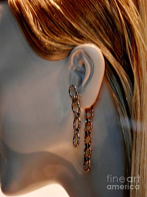 Gold Earrings Photograph - Gold Adornment by L Cecka