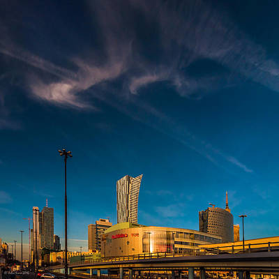 Photograph - Gold And Blue City by Julis Simo