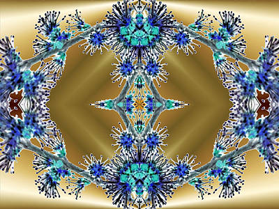 Indiana Images Digital Art - Gold And Blue Series Number Four by Mark Lopez