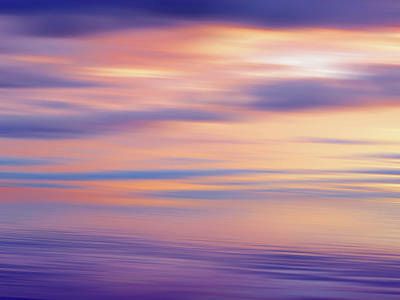 Photograph - Gold And Purple Dream Cloudscape by Gill Billington