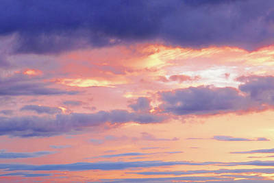 Photograph - Gold And Purple Sunset by Gill Billington