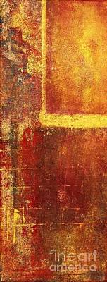 Moderne Kunst Painting - Gold And Red by Philip Bowman