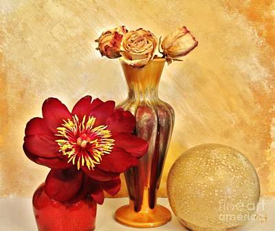 Gold And Red Still Life Art Print