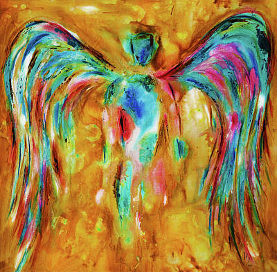 Painting - Gold Angel by Ivan Guaderrama