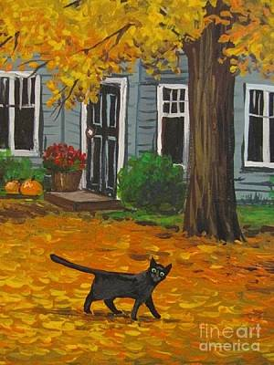Gold Autumn Art Print