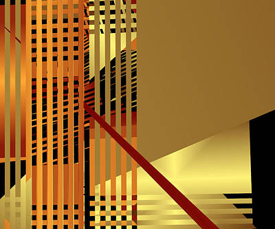 Woven Digital Art - Gold Bars II by Ruth Moratz