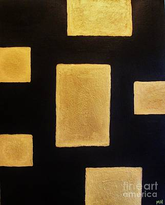 Mix Medium Mixed Media - Gold Bars by Marsha Heiken