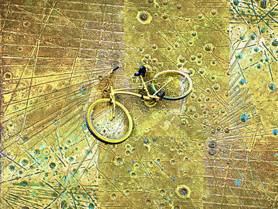 Painting - Gold Bike On Gold by Tony Rubino