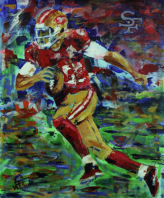 Painting - Gold Blooded 49ers by Walter Fahmy