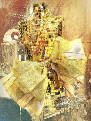 Photograph - Gold Bow Mannequin by Alice Gipson