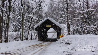 Photograph - Gold Brook Covered Bridge/stowe Hollow Bridge/emily's Bridge by Scenic Vermont Photography
