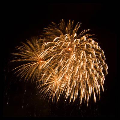 Photograph - Gold Burst Fireworks by Bonnie Follett