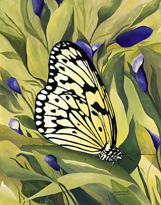 Gold Butterfly In Branson Art Print