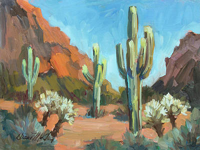 Art Print featuring the painting Gold Canyon by Diane McClary