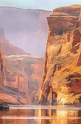 Digital Art - Gold Canyon River by Walter Colvin