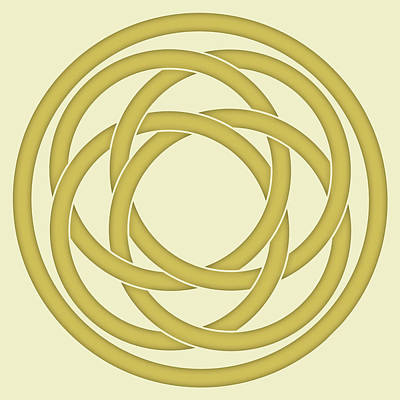 Photograph - Gold Celtic Knot by Jane McIlroy