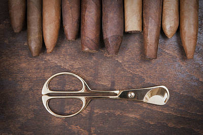 Photograph - Gold Cigar Cutter  by Andrey  Godyaykin