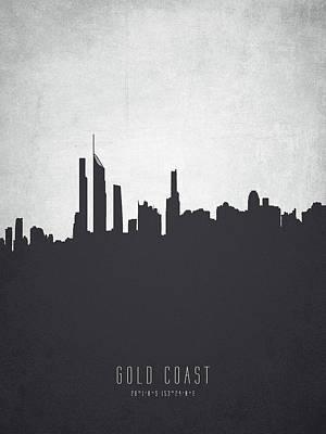 Gold Coast Painting - Gold Coast Australia Cityscape 19 by Aged Pixel