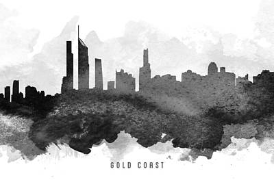 Gold Coast Painting - Gold Coast Cityscape 11 by Aged Pixel