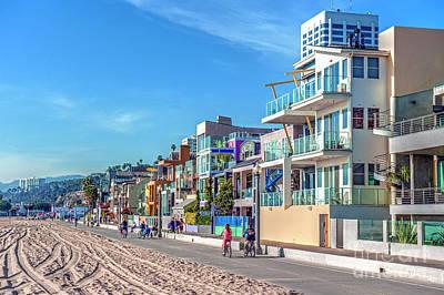 Photograph - Gold Coast Houses Santa Monica by David Zanzinger