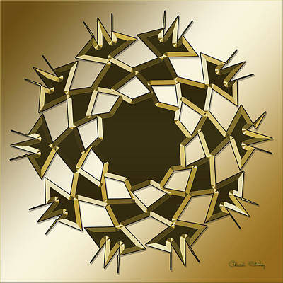 Digital Art - Gold Coffee 10 by Chuck Staley