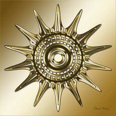 Digital Art - Gold Coffee 11 by Chuck Staley