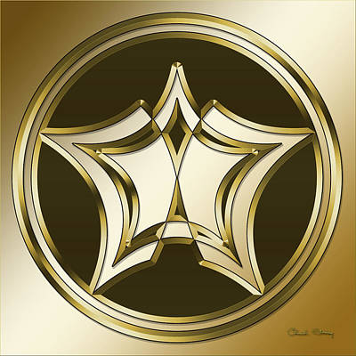 Digital Art - Gold Coffee 12 by Chuck Staley