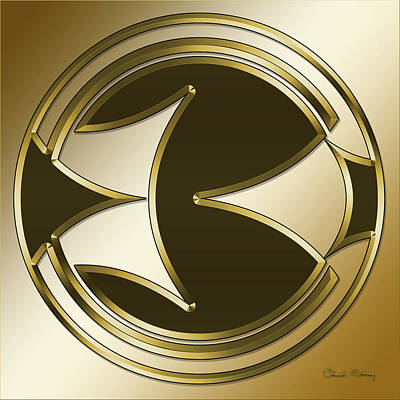 Digital Art - Gold Coffee 5 by Chuck Staley
