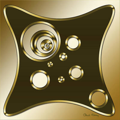 Digital Art - Gold Coffee 6 by Chuck Staley
