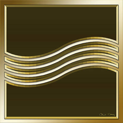 Digital Art - Gold Coffee 8 by Chuck Staley