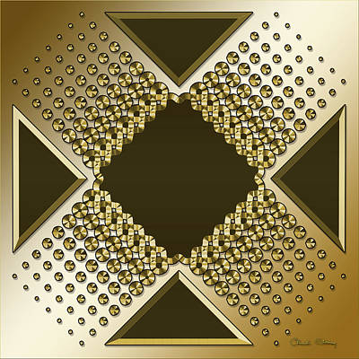 Digital Art - Gold Coffee 9 by Chuck Staley