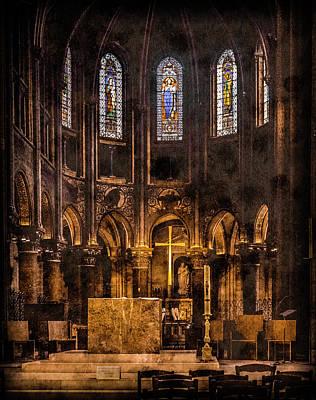 Photograph - Paris, France - Gold Cross - St Germain Des Pres by Mark Forte