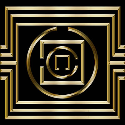 Digital Art - Gold Deco 1 - Chuck Staley by Chuck Staley