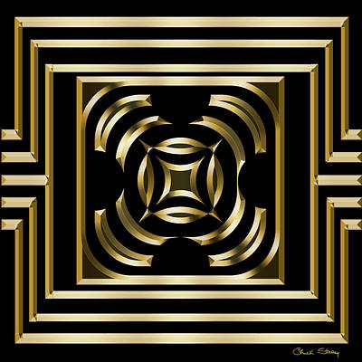 Digital Art - Gold Deco 4 - Chuck Staley by Chuck Staley