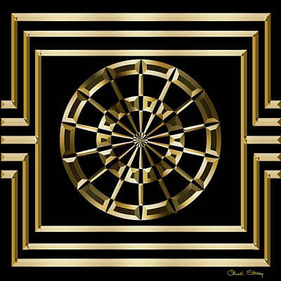 Digital Art - Gold Deco 8 - Chuck Staley by Chuck Staley