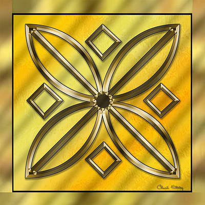 Digital Art - Gold Design 11 - Chuck Staley by Chuck Staley